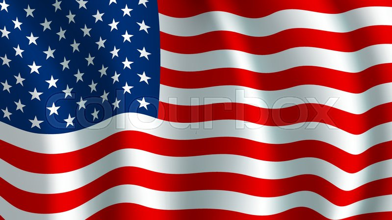 usa america flag vector us american united states country official rh colourbox com american flag waving vector free us flag waving vector