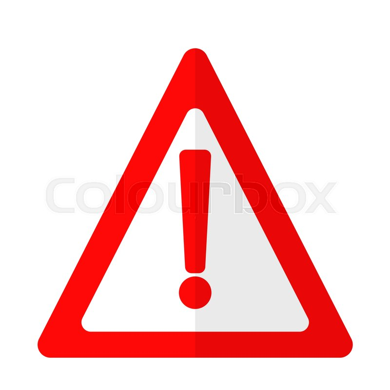 Exclamation danger attention sign flat icon, vector sign ...