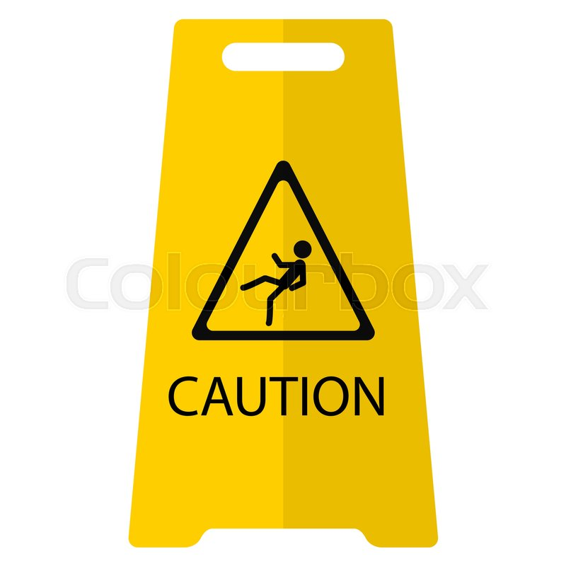 caution wet floor flat icon vector sign colorful pictogram rh colourbox com caution logo mil-std technical manual caution login usajobs 443 account confirm