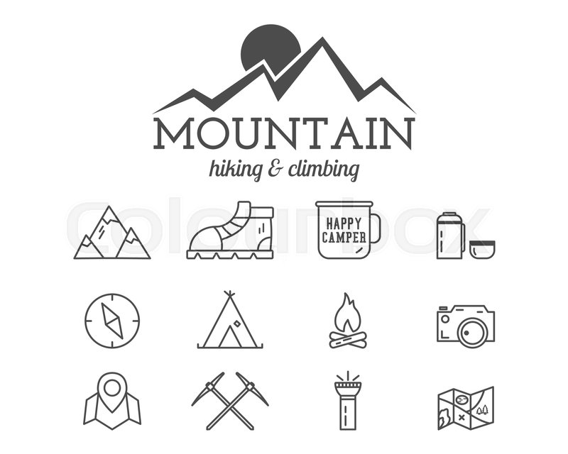 Stock Vector Of Summer Mountain Camp Badge Logo Template And Label Travel