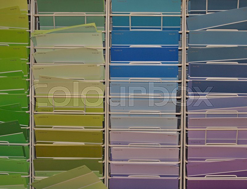 Farbtafeln gelb anstreicher stock photo colourbox - Farbtafeln wandfarbe ...