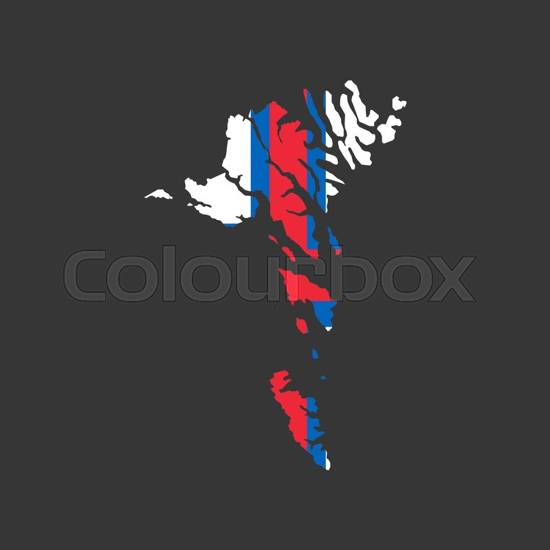 Faroe Island On The Gray Background Stock Vector Colourbox
