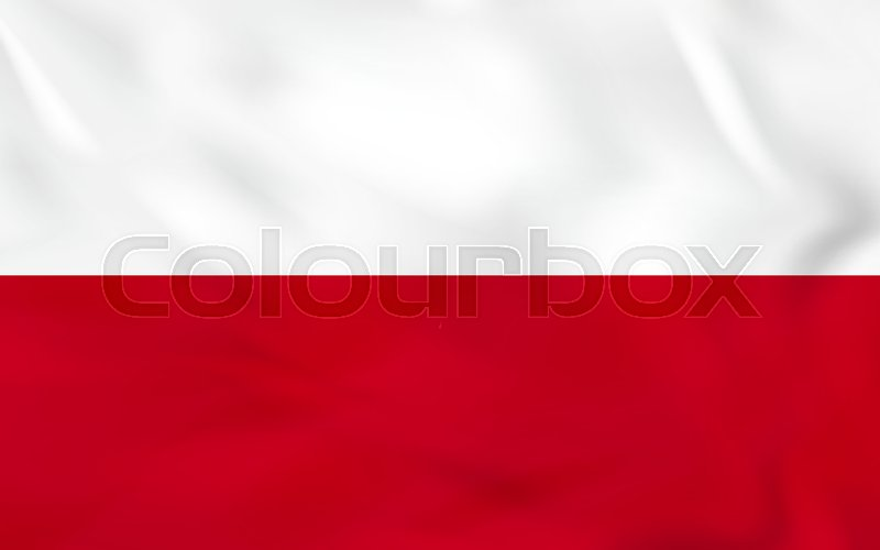 poland waving flag poland national flag background texture vector