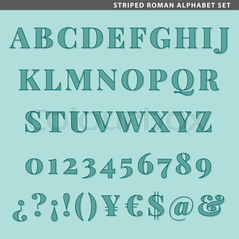 Set Of Type Characters Letters Numbers And Symbols For Titles