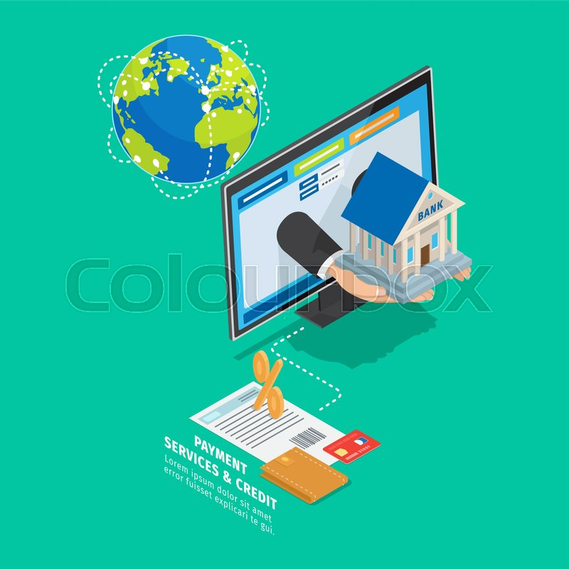 World global payment and credit     | Stock vector | Colourbox