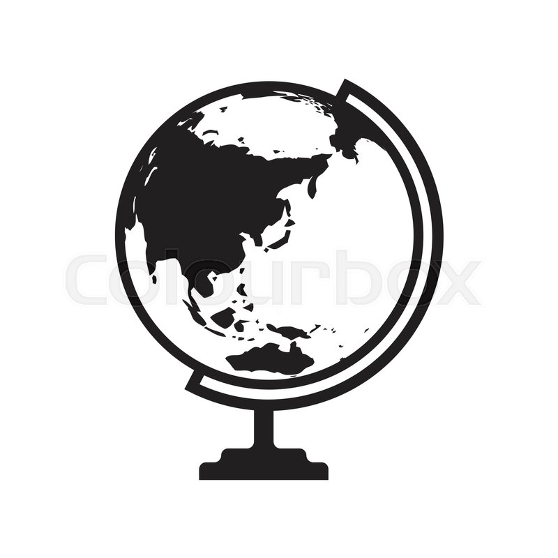 Globe icon vector with asia and australia map flat icon isolated on globe icon vector with asia and australia map flat icon isolated on the white background vector illustration stock vector colourbox gumiabroncs Images