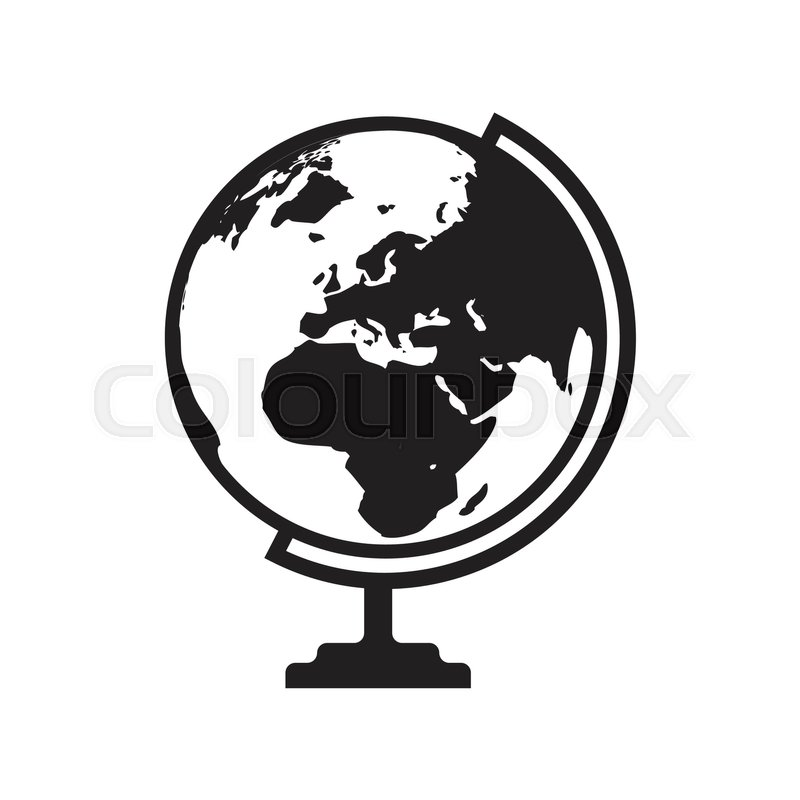 Globe icon vector with asia africa and europe map flat icon globe icon vector with asia africa and europe map flat icon isolated on the white background vector illustration stock vector colourbox gumiabroncs Images