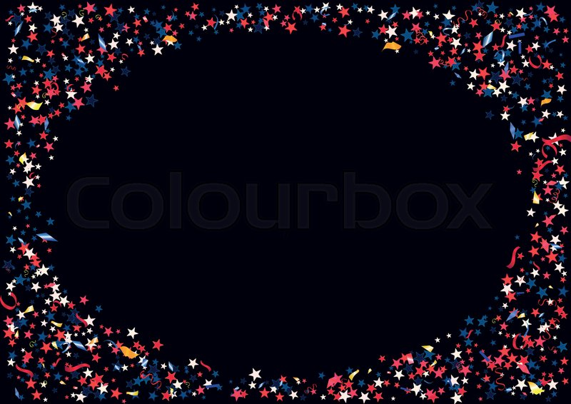 Patriotic Christmas Background.Abstract Background With Flying Red Stock Vector