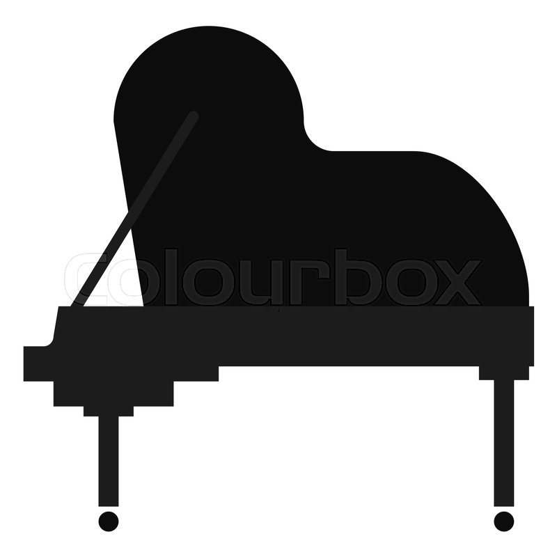 Grand Piano Musical Instrument Flat Icon Vector Sign Colorful Pictogram Isolated On White Symbol Logo Illustration Style Design
