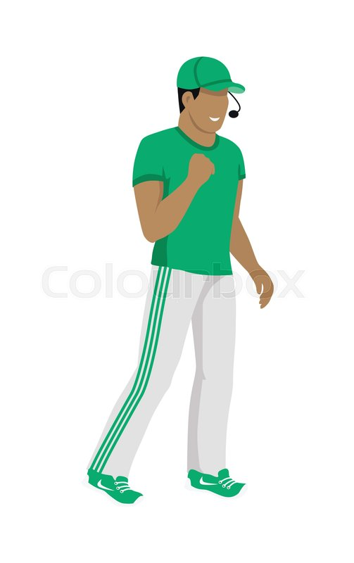 Cartoon soccer referee in green and ...  a50b8909d03