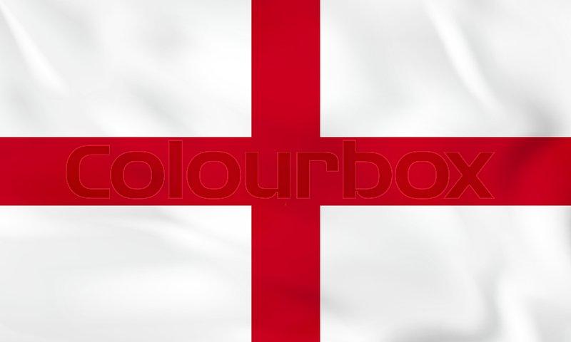 England Waving Flag England National Stock Vector Colourbox