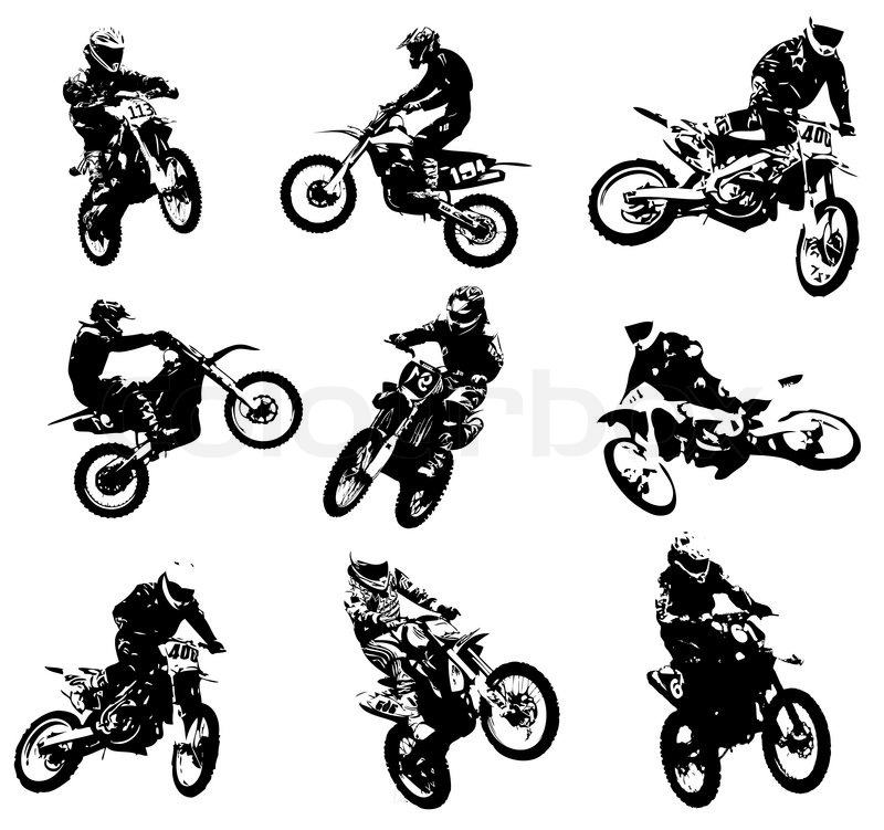 silhouettes of motorcyclists stock vector colourbox race track clip art free race track clip art free