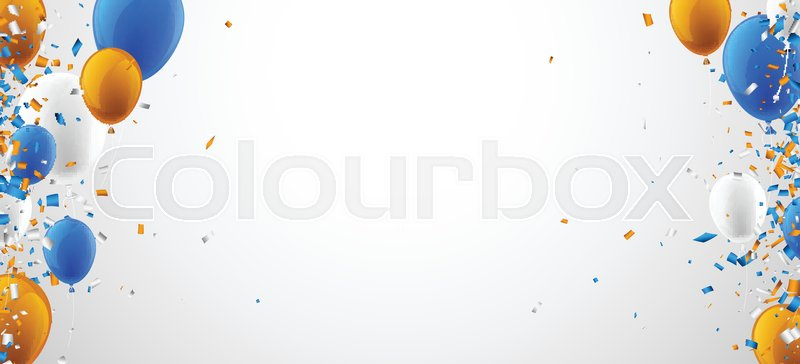 Blue White Orange Background Images, Stock Photos ... |Orange And Blue Vector Background