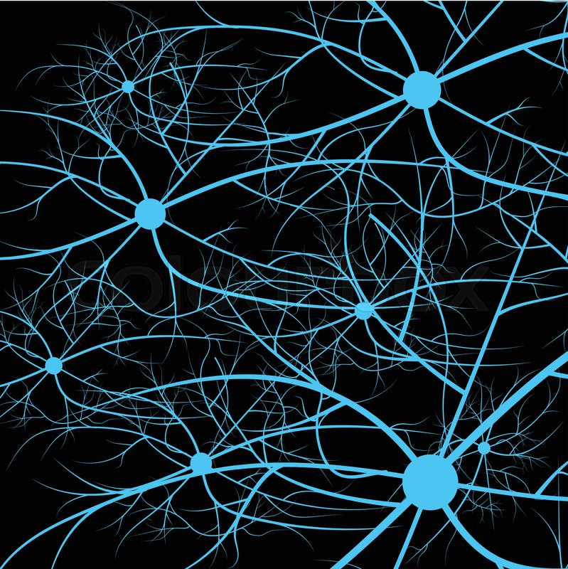 Nerve cells of the human. Strand molecule structure. Genetic and ...