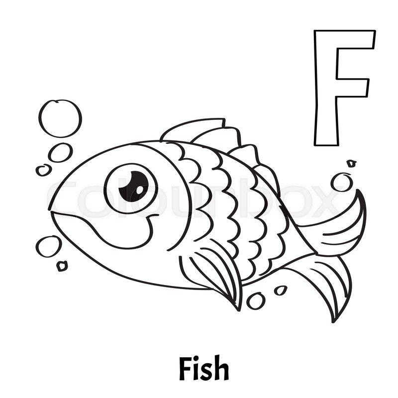 Vector Alphabet Letter F For Children Stock Vector Colourbox