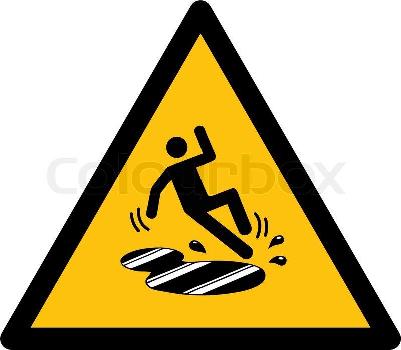 Yellow caution: Slippery wet floor sign in vector | Stock ...