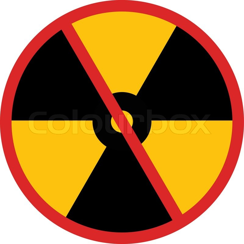 No Nuclear Power Sign In Vector Stock Vector Colourbox