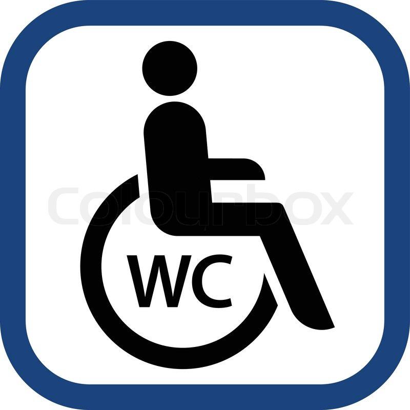 Wheelchair Toilet Sign In Vector Stock Vector Colourbox