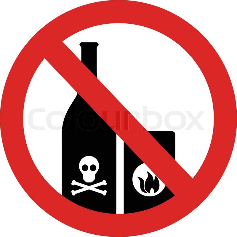 No Flammable And Poison Items Sign In Vector Stock Vector Colourbox