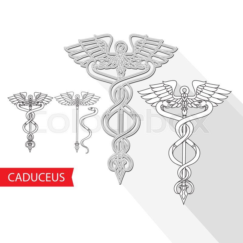 Caduceus Medical Symbol Vector Illustration Of A Snake And Staff