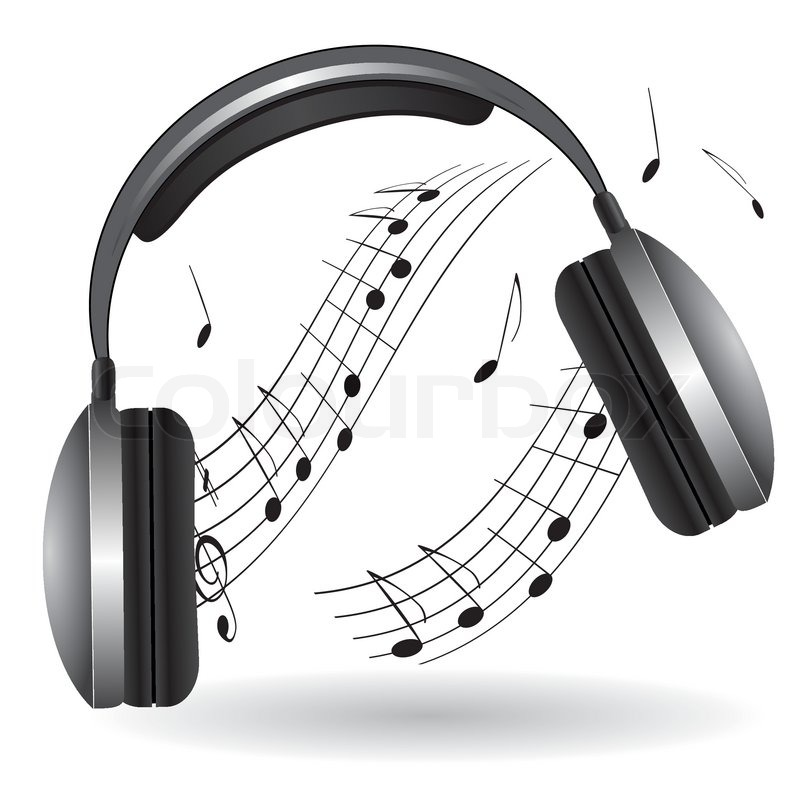 the icon with the headphones vector illustration stock
