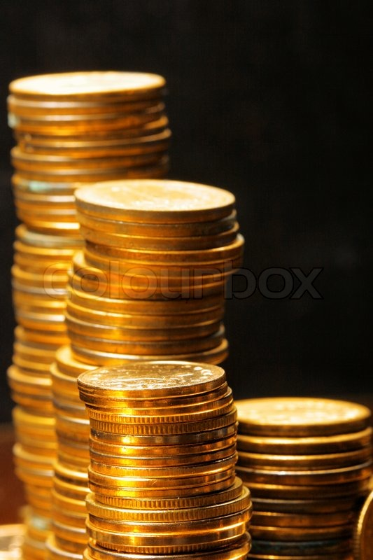 gold coins black background - photo #41