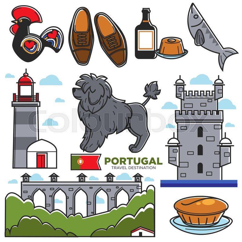 Portugal Travel Landmark And Famous Tourist Attractions Or Cuisine