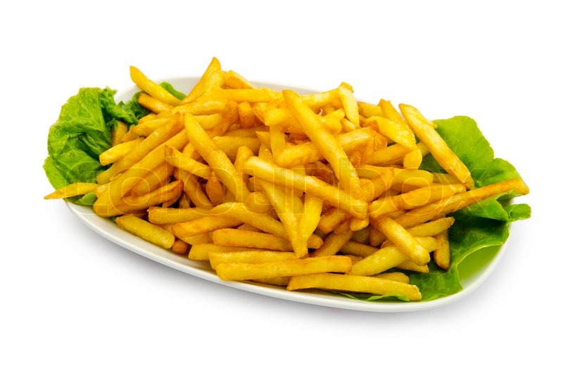 French Fries In The Plate Stock Photo Colourbox