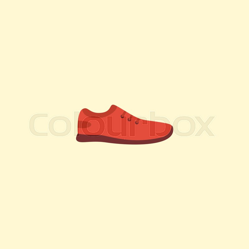 cdbd127887 Vector Illustration Of Flat Icon Gumshoes Isolated On Clean Background. Can  Be Used As Sneakers
