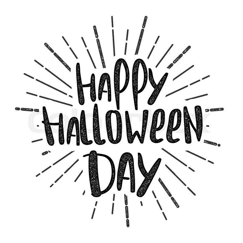 Handwritten Happy Halloween Lettering Stock Vector Colourbox