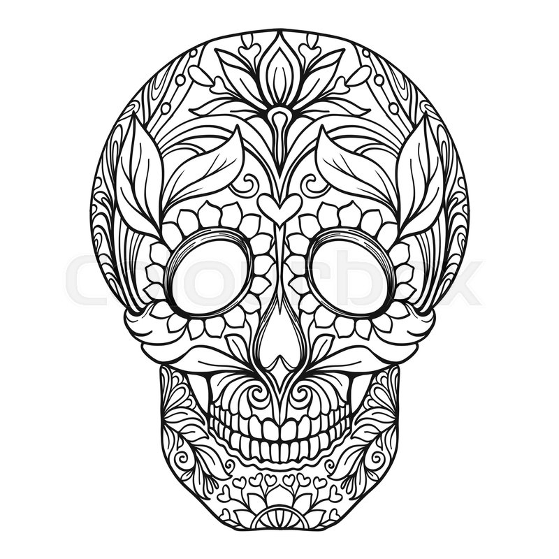 Sugar Skull The Traditional Symbol Of The Day Of The Dead Stock