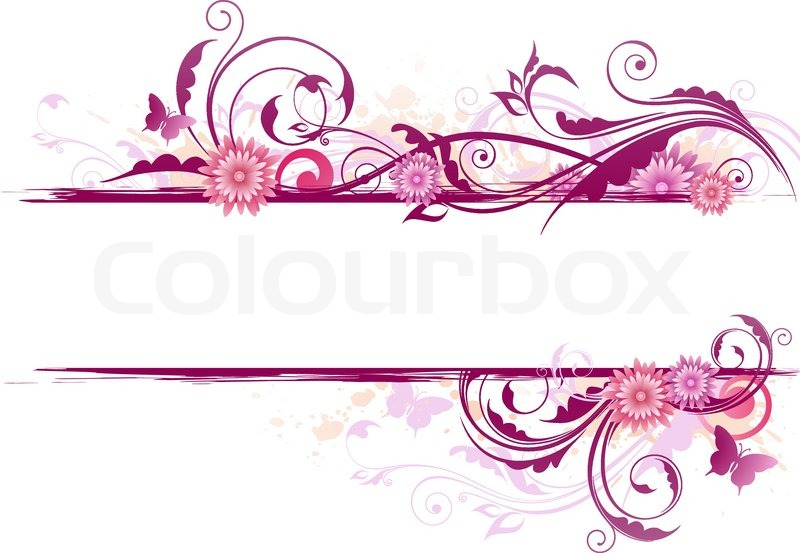 floral background with ornament and pink flowers stock Green Butterfly Clip Art butterfly clipart printables for children