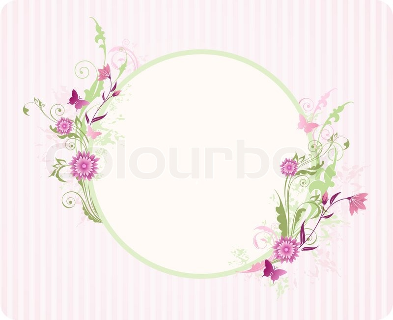 Round banner with floral ornament and pink flowers stock vector round banner with floral ornament and pink flowers stock vector colourbox mightylinksfo