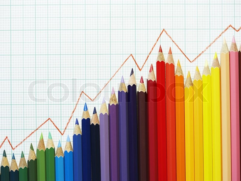 pencil stock graph background
