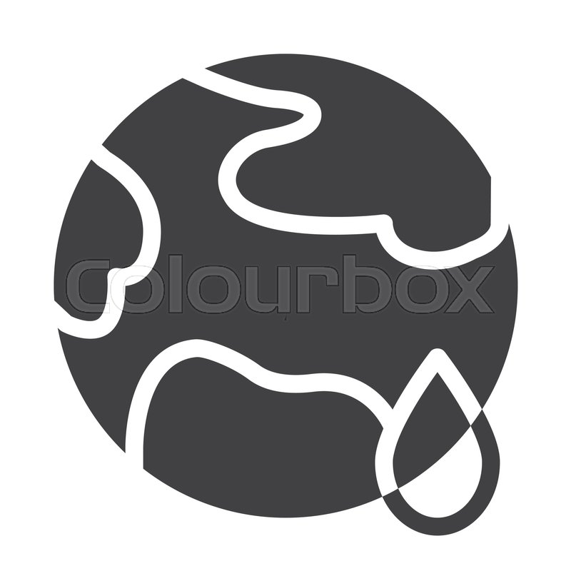 Planet Earth Global Warming Icon Vector Filled Flat Sign Solid