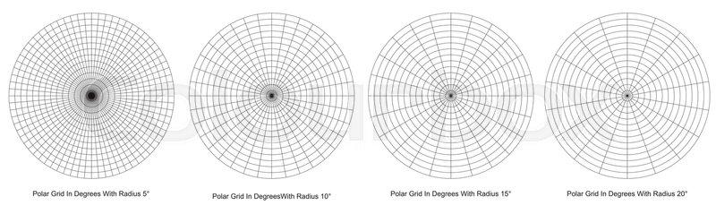 Blank Polar Grid In Degrees Vector Protractor Pie Chart Vector