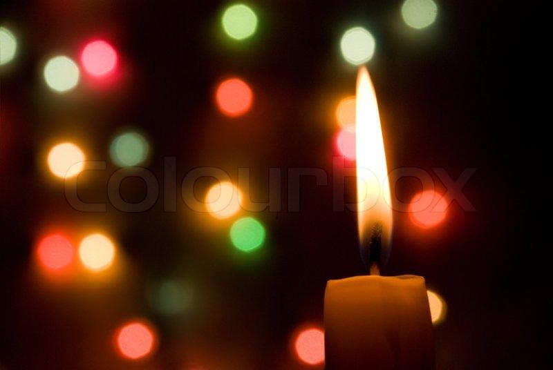 Candle lights creating a fine Christmas mood   Stock Photo   Colourbox