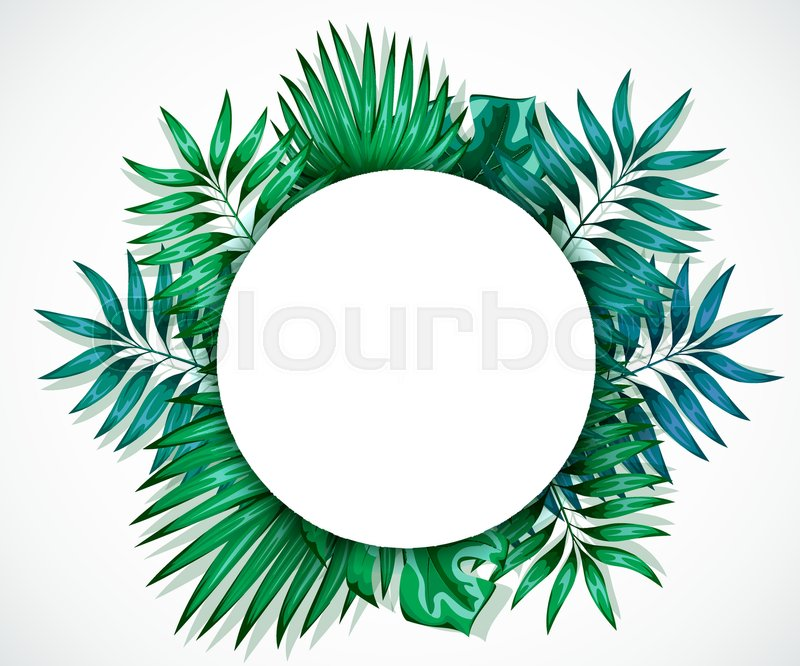 Frame of colorful tropical leaves. Concept of the jungle for the ...