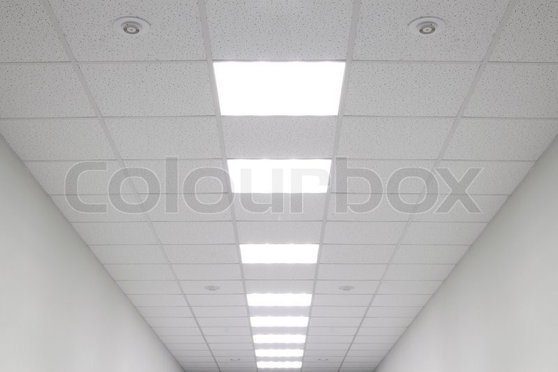 office ceiling with fixtures | stock photo | colourbox