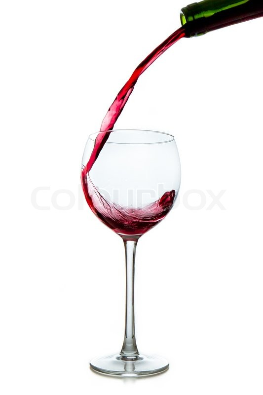 Pouring red wine from bottle into glass stock photo for Red glass wine bottles suppliers