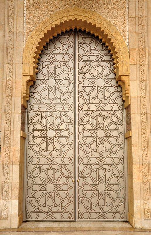 Magnificent Door In Hassan Ii Mosque In Casablanca Morocco Stock Door Handles Collection Olytizonderlifede