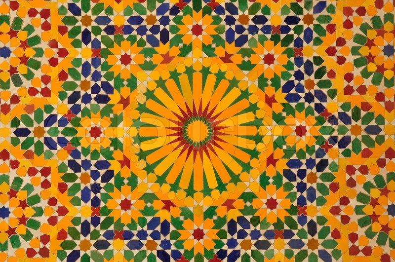 Oriental mosaik dekoration i casablanca marokko stock - Dekoration mosaik ...
