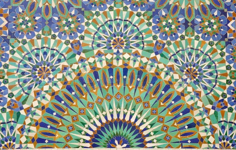 Oriental mosaik dekoration i casablanca marokko stock for Dekoration mosaik