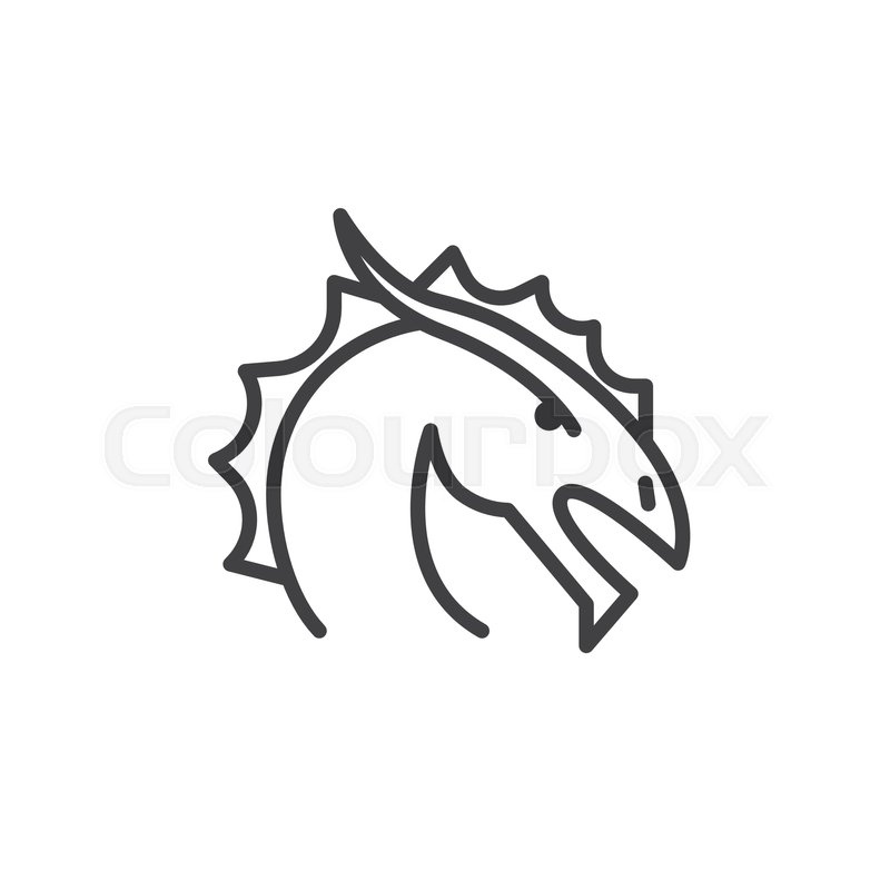 Year Of Dragon Line Icon Outline Vector Sign Linear Style