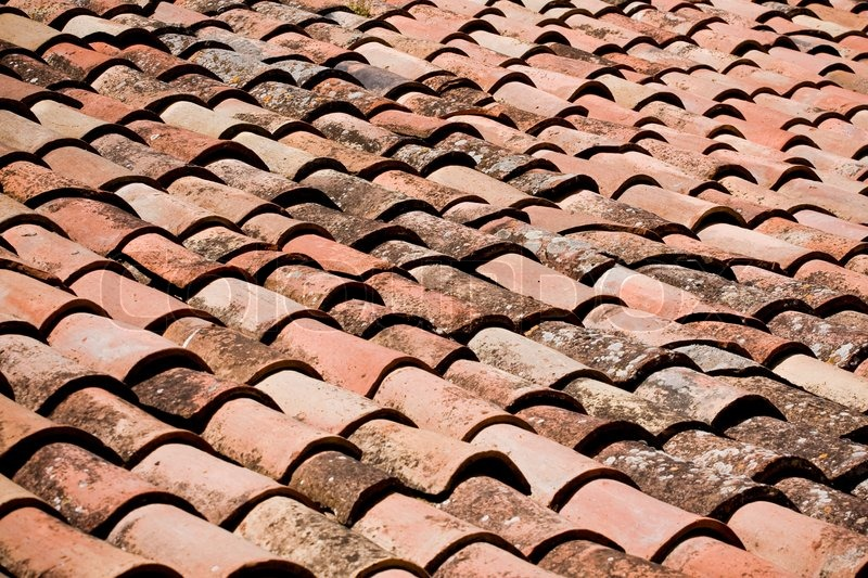 Background Of Old Roof Tiles Stock Photo Colourbox