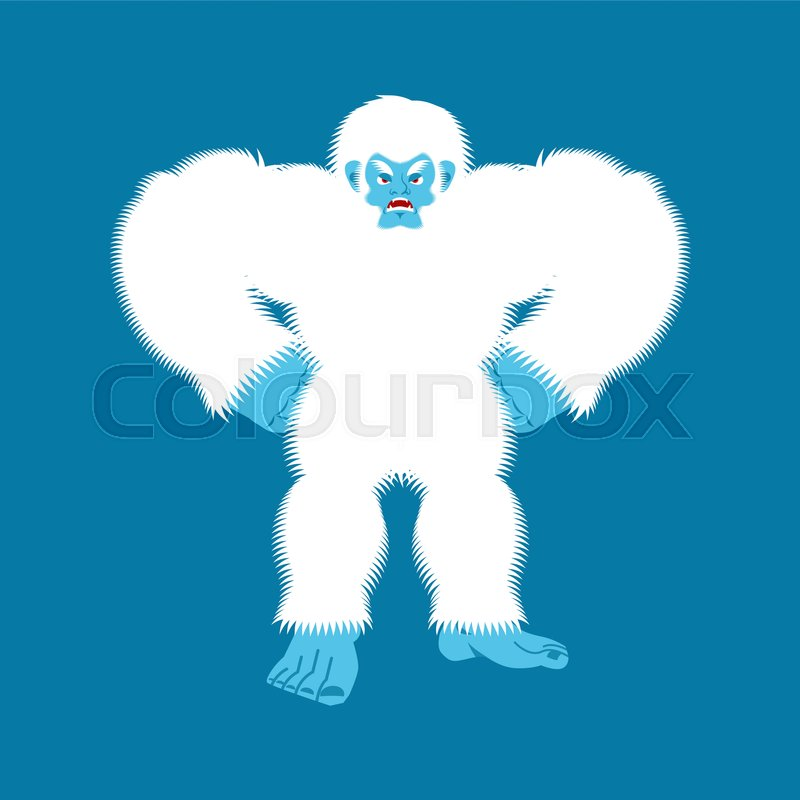 Yeti angry  Bigfoot evil  Abominable     | Stock vector