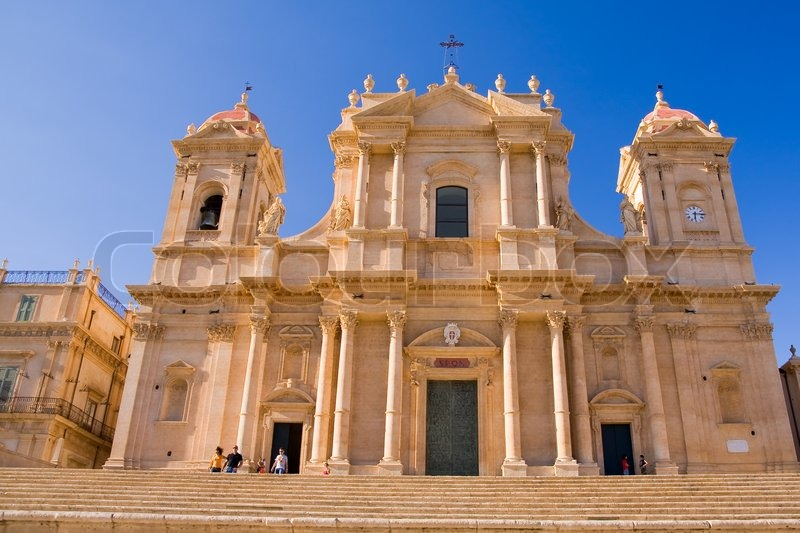 Typical baroque church in sicily italy stock photo for Baroque italien
