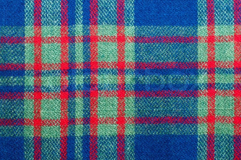 Fabric Texture Patterned Plaid As A Background Stock