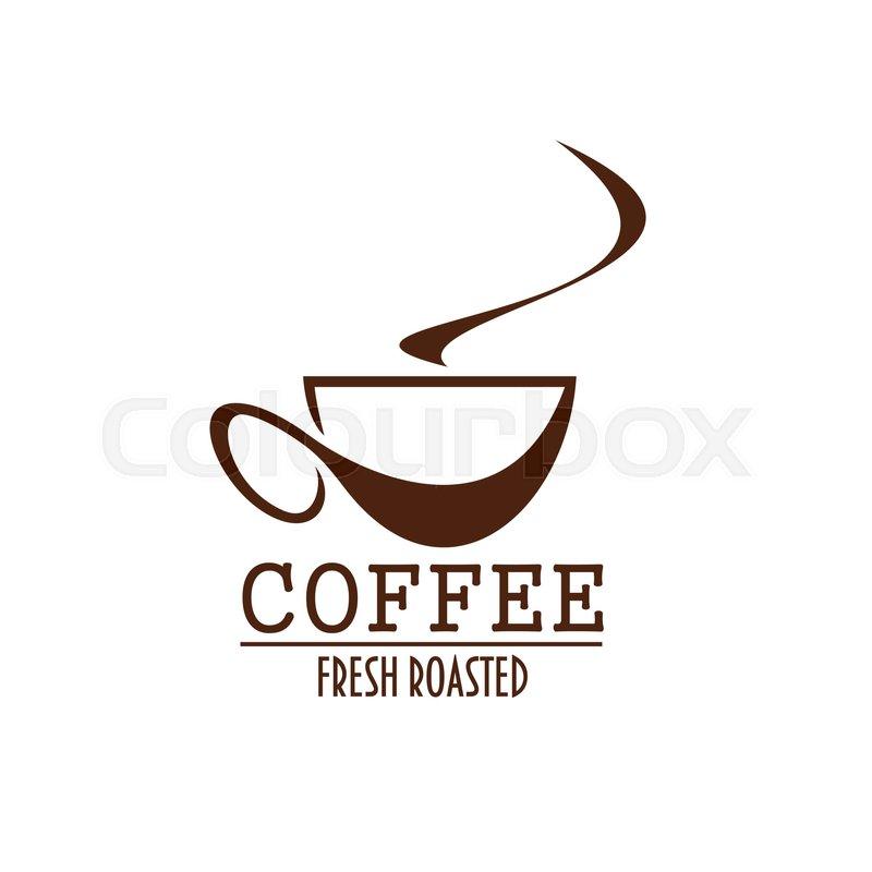 9b9ad65e9e4 Coffee cup brown label of coffee shop ... | Stock vector | Colourbox