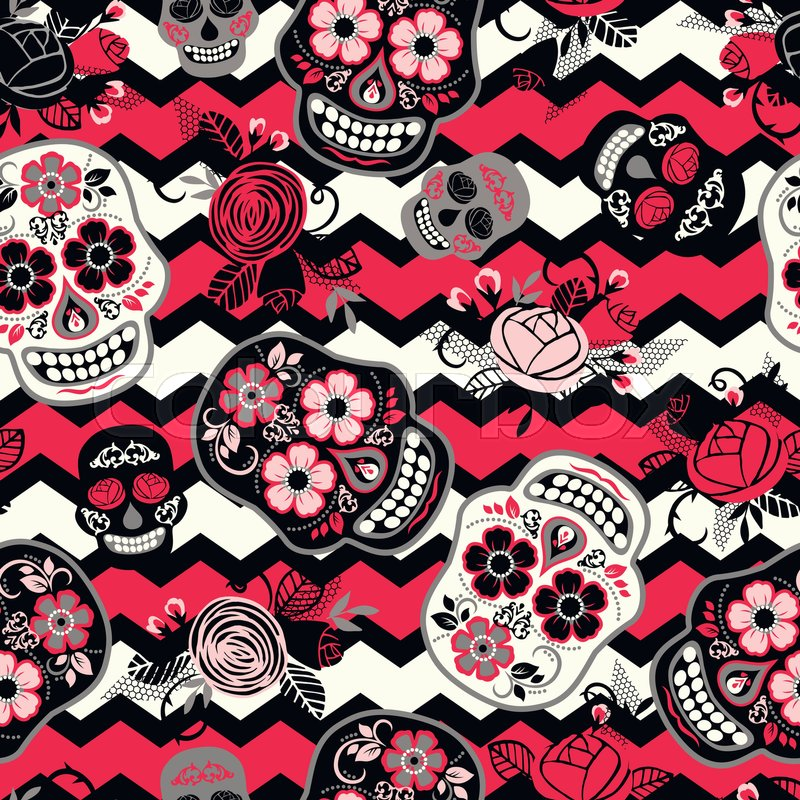 Dia de los muertos. Day of The Dead. Seamless pattern. Vector ...